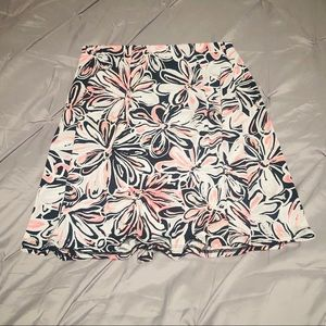 George Retro Floral Print Stretchy Skirt (Med)